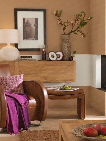 67 best Wohnzimmer images on Pinterest Living room, Ad home and - wohnzimmer braun pink