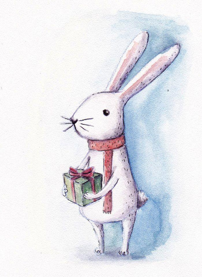 Просмотреть иллюстрацию новогодняя открытка из сообщества русскоязычных художников автора Юлия Яковлева в стилях: Графика, Детский, Другое, нарисованная техниками: Акварель, Графика, Карандаш.