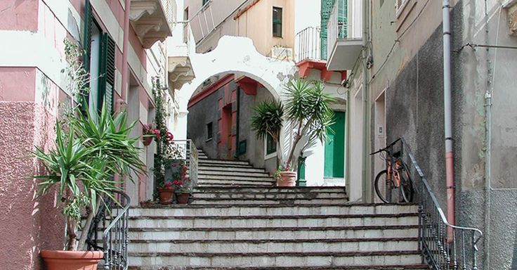One of the charming streets of Carloforte where young couples in love like to kiss themself under the nice little arch