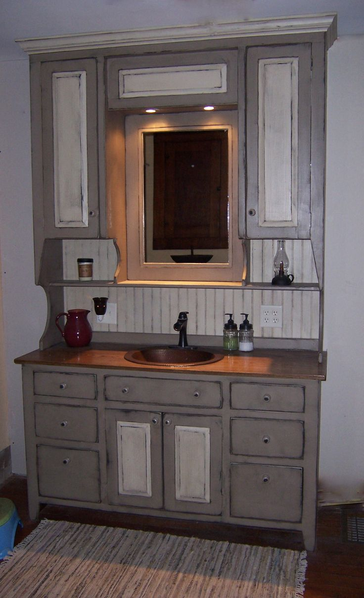 Newly Finished Bathroom Vanity With Images Primitive