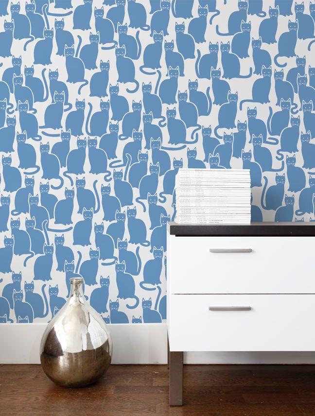 Shadowcat Wallpaper in Blueberry design by Aimee Wilder