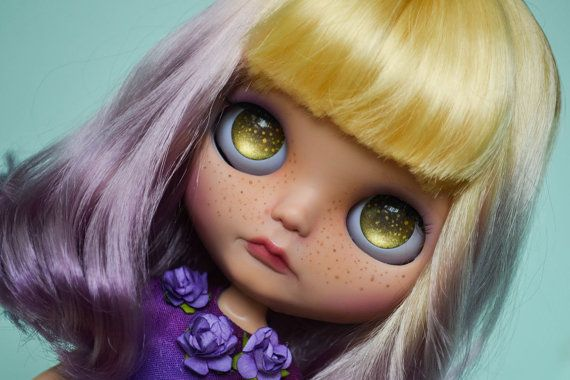 OOAK Custom Tanned Factory Blythe Doll  Moonbeam by MissFreyaJ