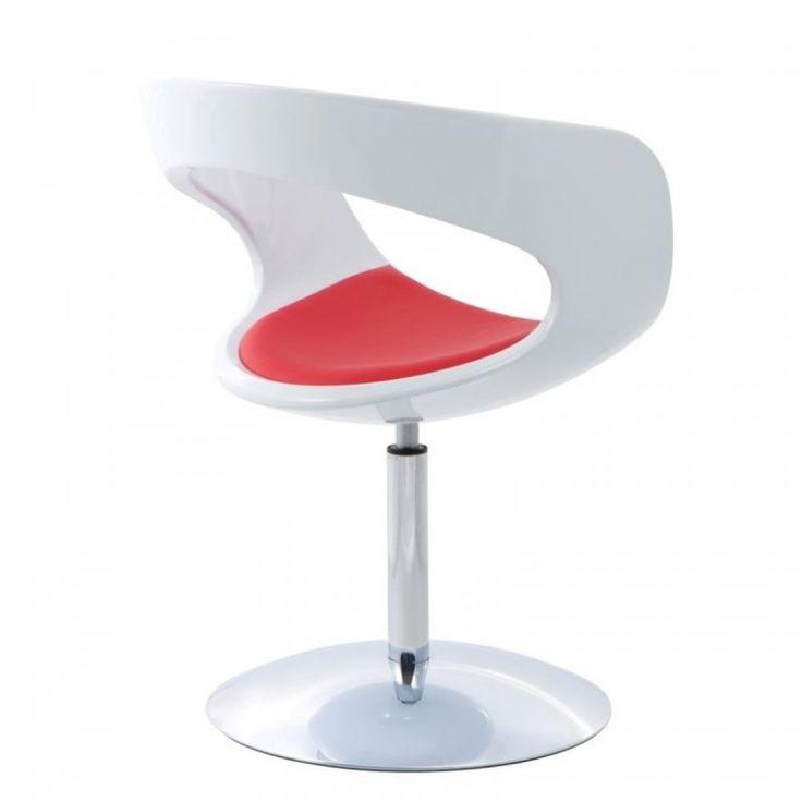 Flop klub fotel:      Flop forgó karosszék vagy klubfotel.     A háttámlája és ülőfelülete műbőrből készült, a héj üvegszálas műanyag.  Méret:      Magasság : 83 cm     Szélesség: 62 cm     Mélység : 56 cm     Ülés magasság: 48 cm     Kartámasz magasság : 76