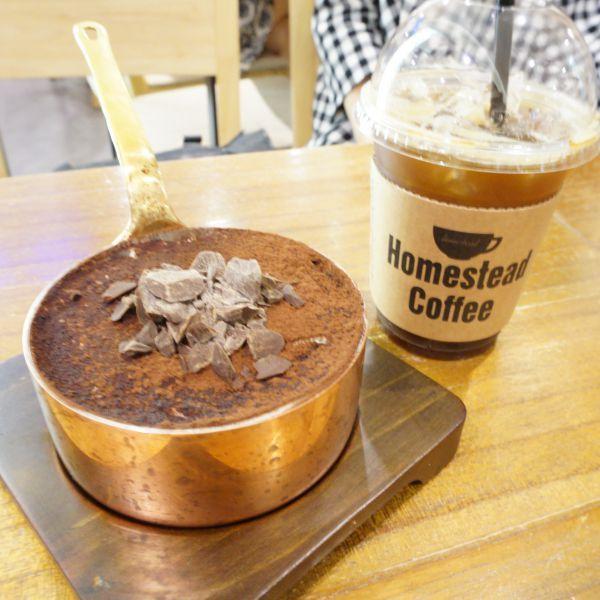 보는 것 만으로도 달콤한 비쥬얼과 입안을 감도는 향긋한 커피향을 선사하는 티라미수 @롯데백화점 Homestead coffe