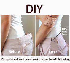 calça folgada na cintura