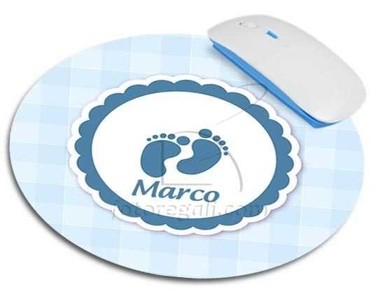 Tappetino mouse tondo Piedini azzurri