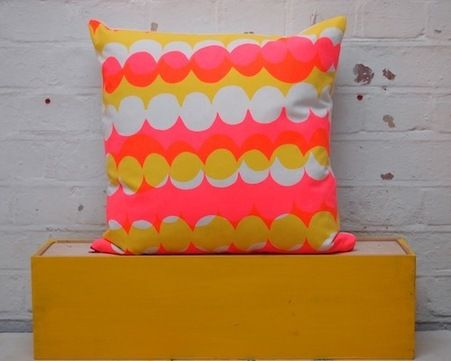 $65 Jonna X Kangan double scallop hand screen printed cushion cover