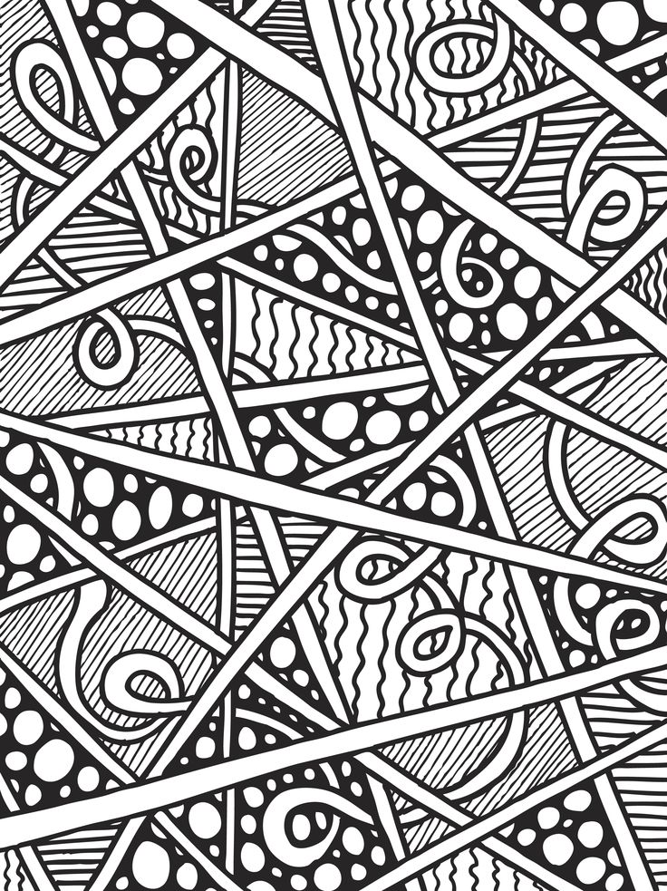 abstract coloring book pages - photo#3