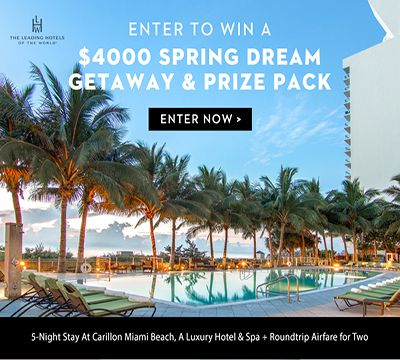 Enter to Win a $4000 Spring Getaway & Prize Package