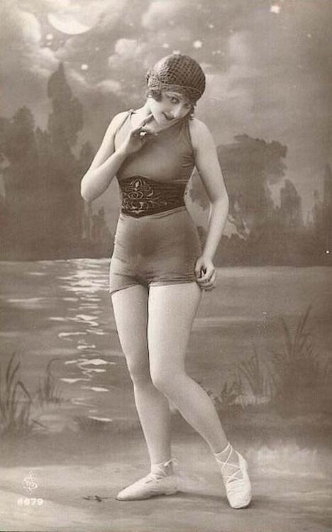 Woman in a bathing suit, 1920s,