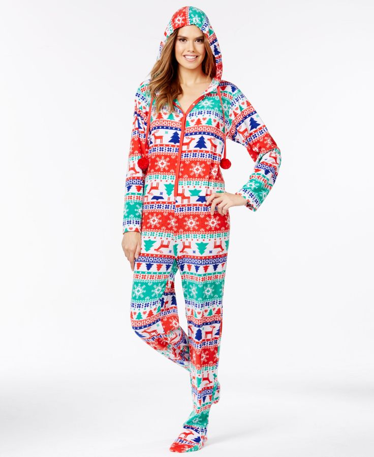 Pj Couture Holiday Hooded Footed Pajamas