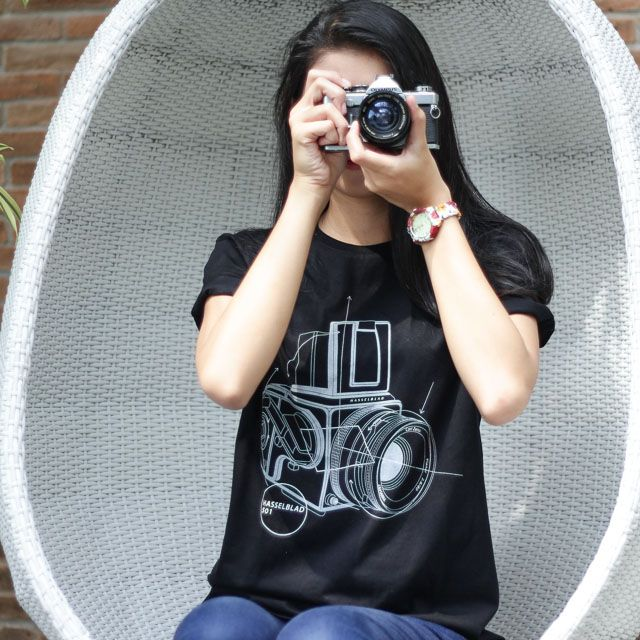 Hasselblad classic medium format camera tee shirt analog photography lover geek