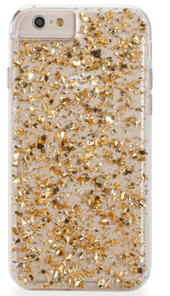 Case designed to fit the iPhone 6 Plus. Genuine 24-kt. gold leaf highlights with translucent finish. Ultra slim, dual-layer design with protective bumper. Enhanced impact resistance and shock dispersi