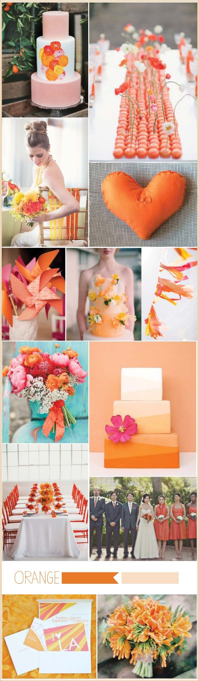 Tangerine and Orange Wedding Inspiration