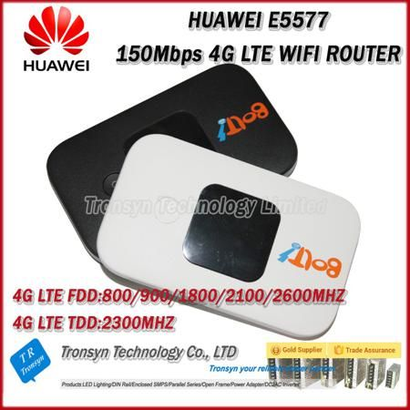 Wholesale Original Unlock LTE FDD 150Mbps HUAWEI E5577 4G LTE Mobile WiFi Router Support LTE FDD And TDD Network  — 19613.63 руб. —