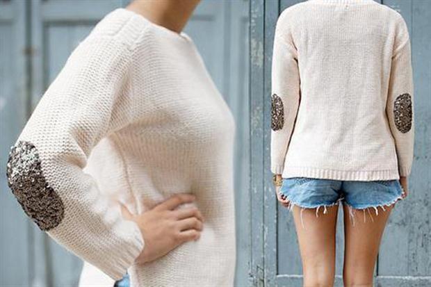 Para darle un toque más glam, podés aplicar pitucones con brillos sobre alguno de tus sweaters.