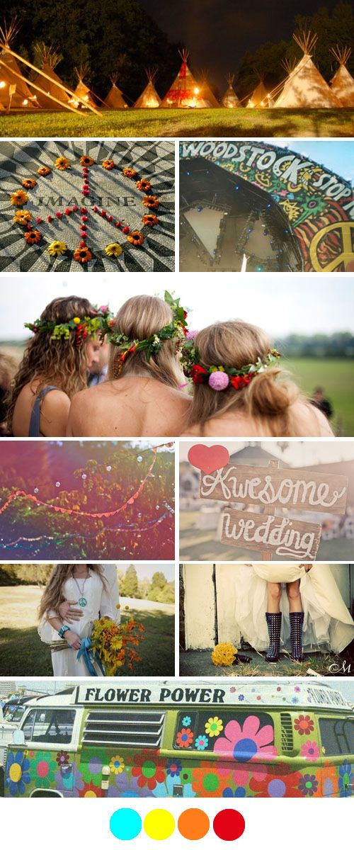 woodstock theme wedding!!!! like actually kinda epic idea! ...yup just planned this event in my head, now someone get married i've planned it for you! haha!