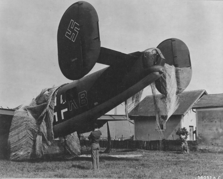 Photo of an American B-24h-5-Dt Liberator recaptured by American forces.  Originally part of the U.S. 732nd Bomber Squad, the plane made an emergency landing at a Luftwaffe airport in France.  The Germans re-marked her and she flew for the KG200 Squad until she was recaptured by Americans in Austria in 1945.  The KG200 flew at least 12 captured B-17s, and seven captured B-24s.