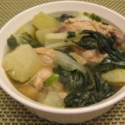 This one-pot wonder combines chicken, chayote squash, bok choy, and spinach in a savory broth.