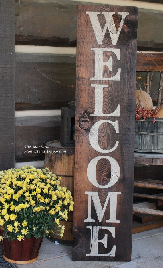 Reserved For Erin Extra Large Vertical By Themontanahomestead Porch Signs Barn Board Signs