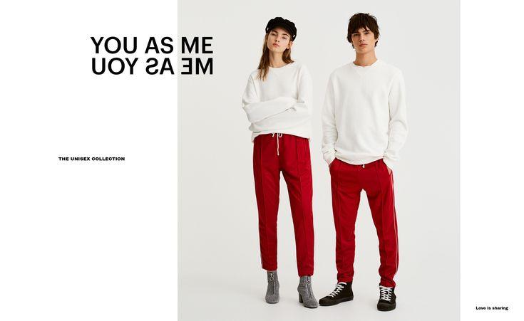 Pull&Bear - hombre - unisex - colección - pantalón jogging bandas laterales - rojo - 09681540-I2017