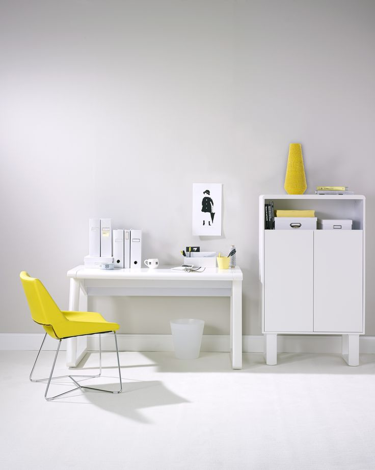 Yellow, white - bright colours add a certain something to the energy of the office #shareyouroffice