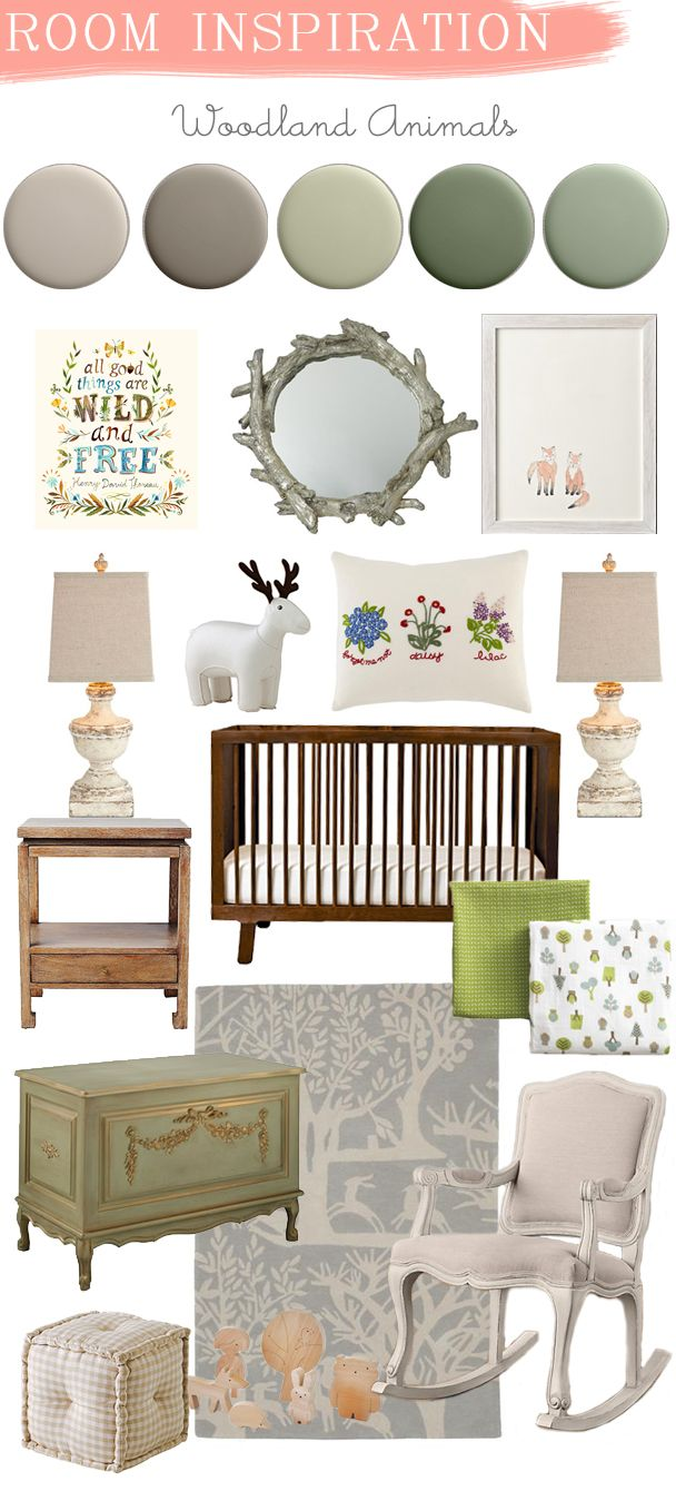 La Petite Peach_Room Inspiration_woodland animals