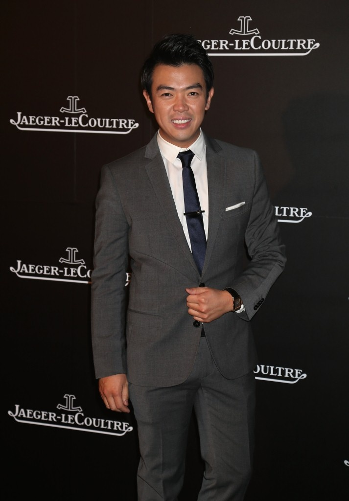 Comedian Wonho Chung wearing a Grande Reverso Ultra Thin Tribute to 1931 in Pink Gold at the Jaeger-LeCoultre Gala dinner, 13th October, Abu Dhabi #ADFF12