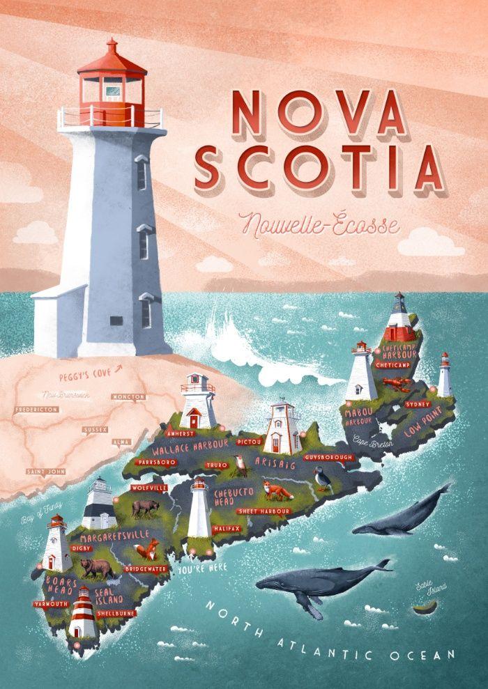 NOVA SCOTIA Art Print by Seaside Spirit | Society6