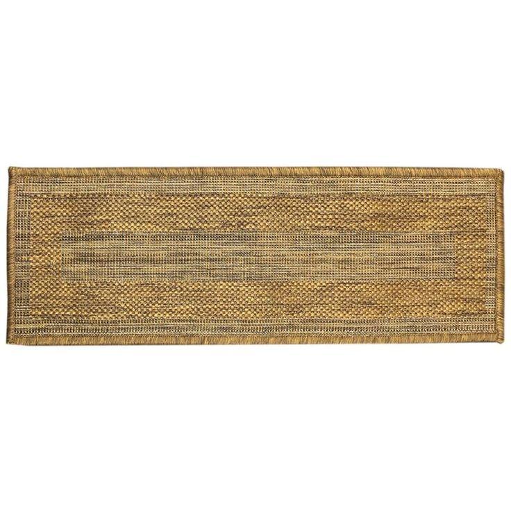 Best Ottomanson Jardin Collection Bordered Design Brown 9 In X 400 x 300