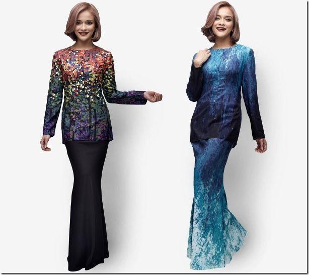 Ocean-Inspired Designer Modern Baju Kurung Ideas For Raya 2016