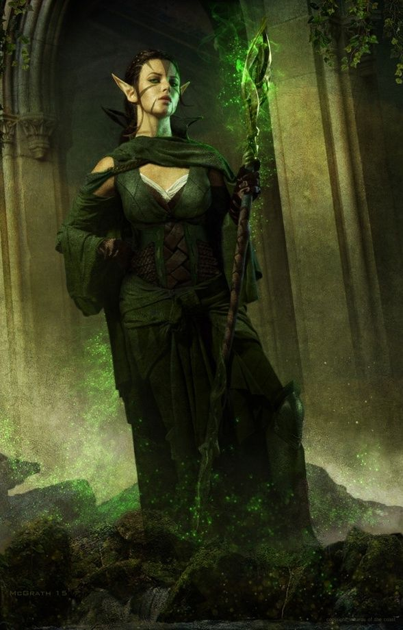 Elf Female Wizard Dungeons And Dragons Characters Fantasy Artwork Mtg Art