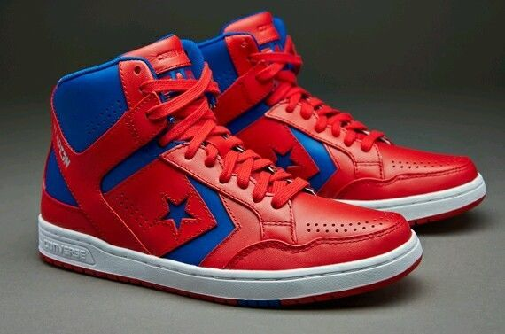 NEW CONVERSE WEAPON RED/BLUE/WHITE 144546C MEN'S SIZE 10 BASKETBALL SHOES…