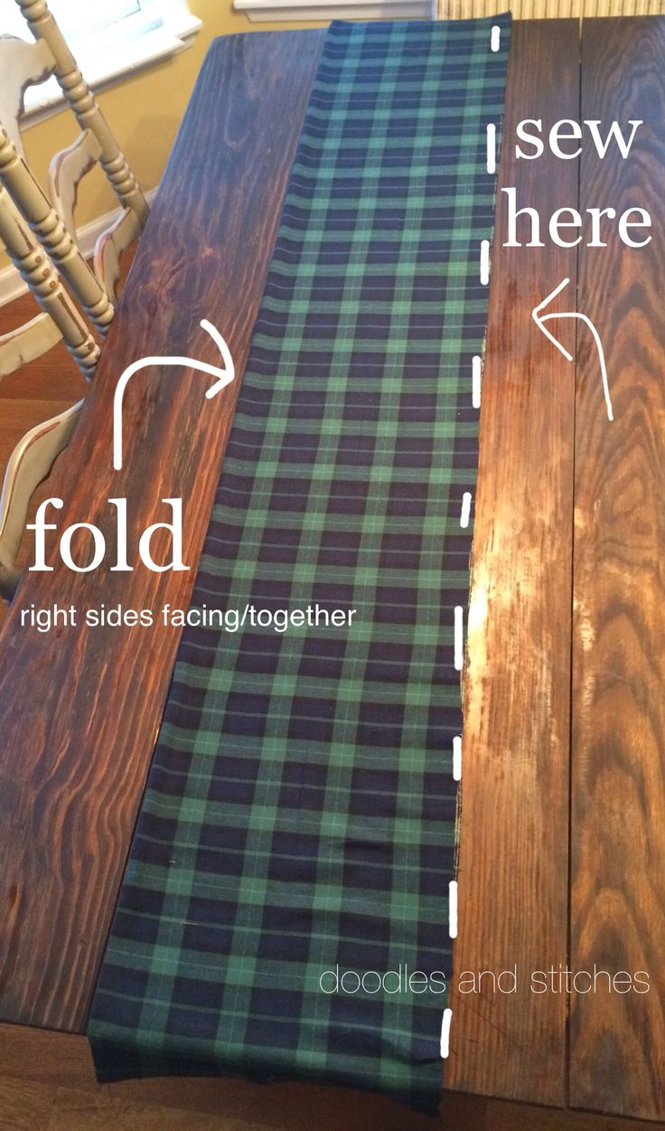 Doodles & Stitches: Plaid is the new black - DIY Scarf