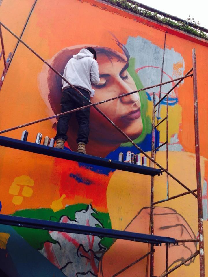 paso bajo nivel la florida / walker martinez #mural #graffiti #streetart #kode #alanzarate #graffitisobrenieve