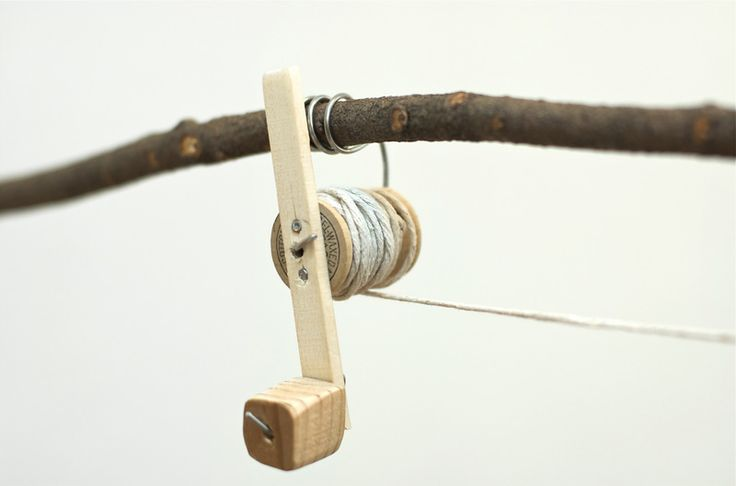 Diy thread spool fishing rod for kids diy recycled for Fishing rods for kids