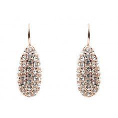 Orleans drop earrings - rose gold