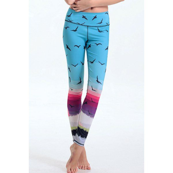 Trendy Elastic Waist Mew Print Leggings For Women #CLICK! #clothing, #shoes, #jewelry, #women, #men, #hats, #watches