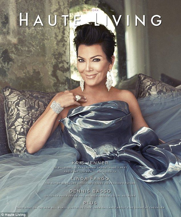 Grace under pressure: Kris Jenner was shining in a dramatic silver gown on the August/Sept...