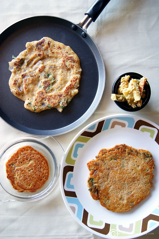 A South Indian rice and lentils savory pan cake perfect for a filling breakfast.
