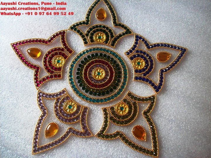 84 best toran kundan work images on pinterest diwali for Door rangoli design images new