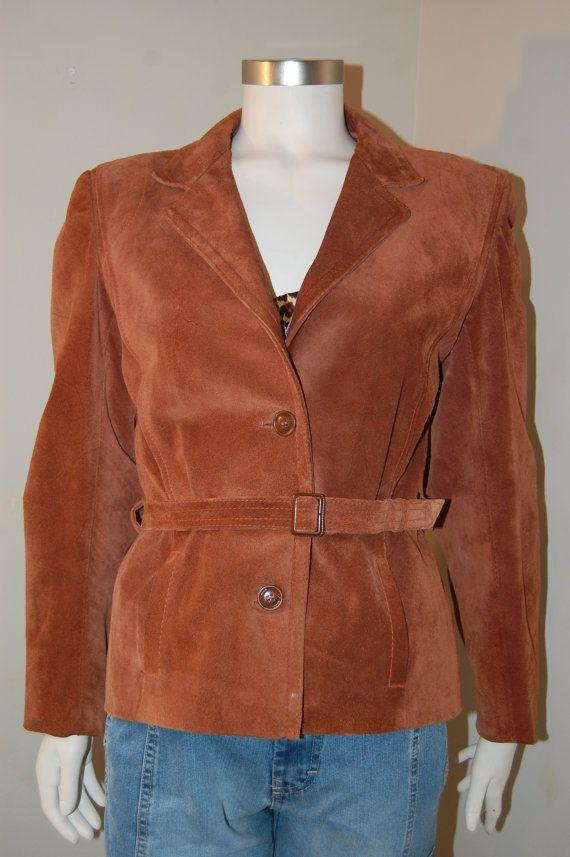 Vintage suede jacket / women's vintage 1980 by Cheapvintagefashion, $60.25 https://www.etsy.com/shop/Cheapvintagefashion