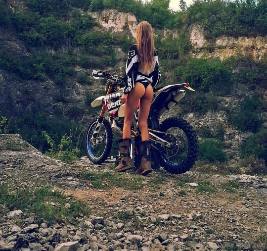 hot naked bitches on dirt bikes