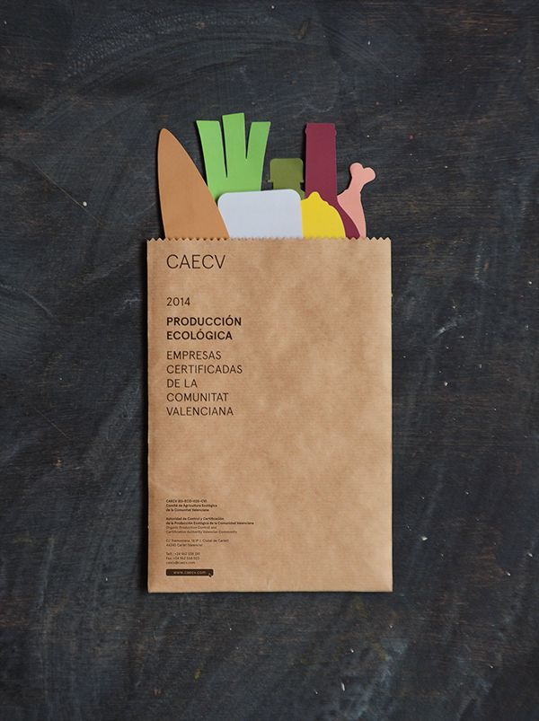 CAECV on Behance A brochure in a paper bag
