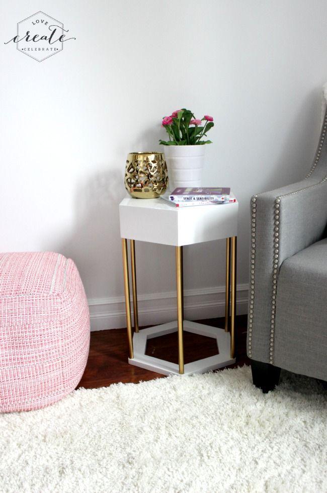 Perfect Hexagon Side Table Idea