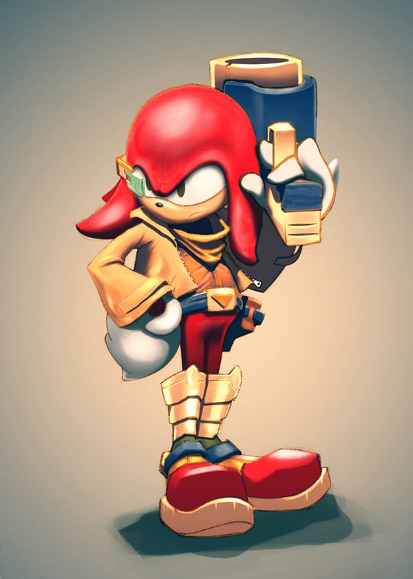 Knuckles as Falco from Star Fox by Jorge Vargas, via Behance