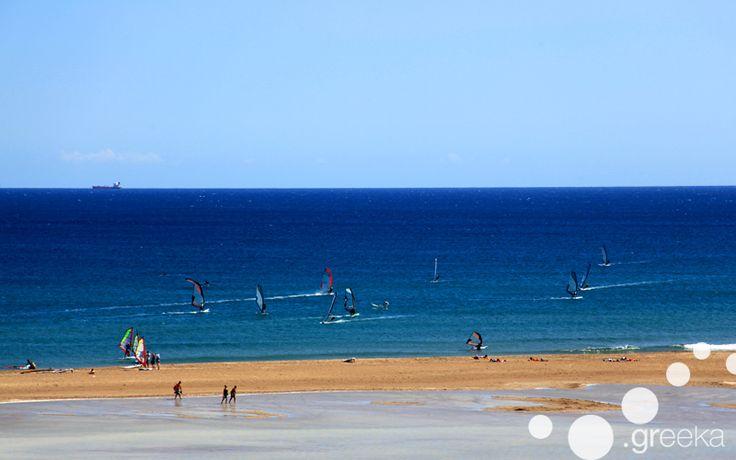 Best Greek islands for windsurfing and kite: Rhodes, Prasonissi Beach