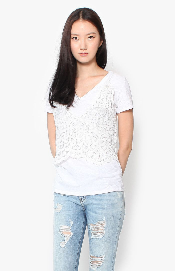 Brooklyn Crochet Top - White