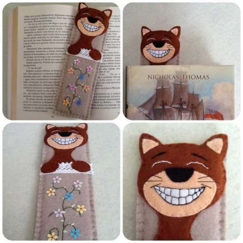 Felt bookmark - idea for cats painted rocks