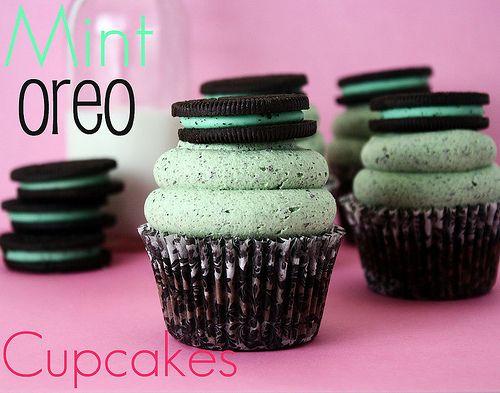 for st patricks day dessert! Oreo cupcakes